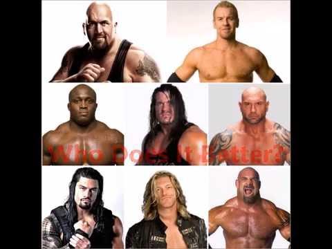 Spear Big Show Christian Bobby Lashley Rhyno Batista Roman Regins Edge Goldberg