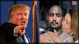 Seconds After Nancy Pelosi EMBRACES Murderous Gang Member President Trump Takes Her To The Woodshed