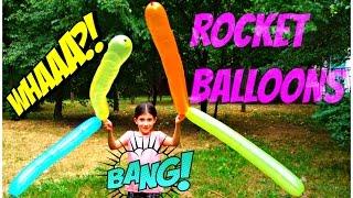Outdoor Playground Fun - Rocket Balloons for Kids