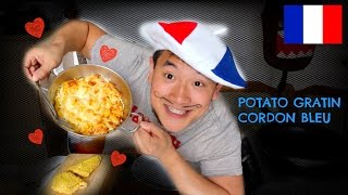 Potato Gratin + Cordon Bleu :: MUKBANG WITH JP EP23