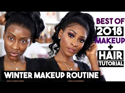 WINTER FOUNDATION ROUTINE USING 2018 FAVOURITES & QUICK HAIR TUTORIAL DSOAR HAIR