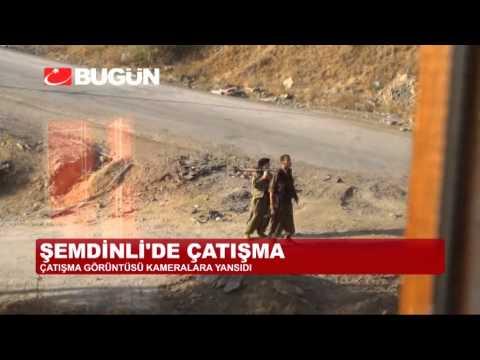ŞEMDİNLİ'DE ÇATIŞMA ANI KAMERADA