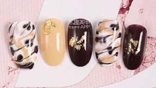 【Watch nail Teach Me-789th phase】Cappuccino Drawing Texture【窝趣美甲你求窝教 第789期】卡布奇诺勾绘纹理