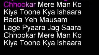 Chhukar Mere Mann Ko  Hindi Clean Karaoke with lyrics