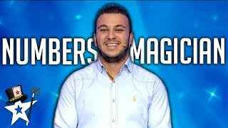 Numbers Magician Shocks Judges With Card Magic on Greece Got Talent | Magicians Got Talent