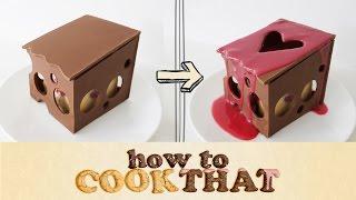 SECRET LOVE HEART DESSERT How To Cook That Ann Reardon Valentines Chocolate