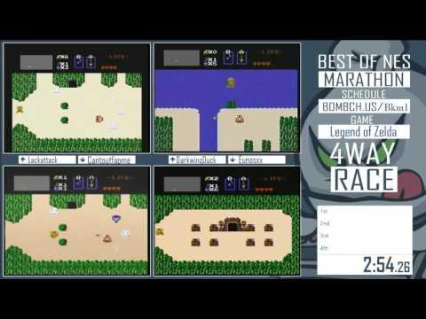 Best of NES Marathon 2015 - The Legend of Zelda race