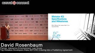 Top Mistakes Developers Make BEFORE Entering into a Publishing Agreement | David Rosenbaum