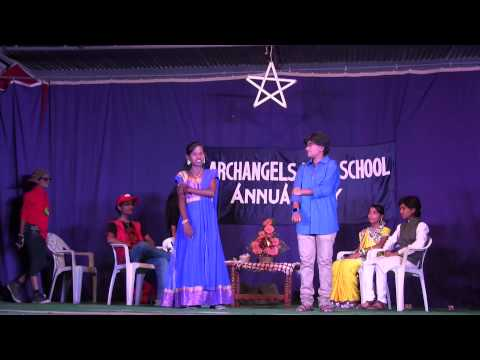 Archangels High School Annual Day 2014 -  Skit on Indian Culture by Class 10
