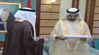 محمد بن راشد يتسلم دعوة لرئيس الدولة من العاهل السعودي