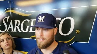 Jimmy Nelson talks about being back with the Brewers after 21-month absence.