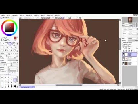 Speedpaint (Paint Tool SAI) glasses