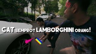 CAT SEMPROT LAMBORGHINI ORANG! (PRANK)