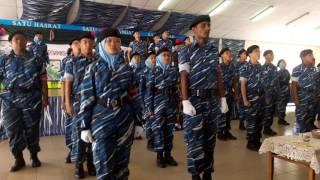 Persembahan War Dance Dari KEM PLKN Teluk Sari 2016 Di Sekakap,Johor