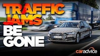 No more traffic jams: Audi A8 traffic jam pilot level 3 autonomy test