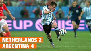 Netherlands vs Argentina (2-4) World Cup 2014 Highlights