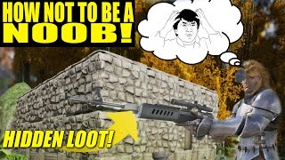 HIDDEN LOOT BUNKER BASE (HOW NOT TO BE A NOOB!)- ARK: SURVIVAL EVOLVED