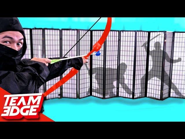 """Shoot The Ninja Behind The Paper Wall"" Challenge!!"
