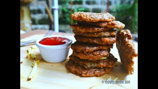 Puso ng Saging Patties (Banana Blossom Burgers)