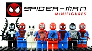 LEGO The Amazing Spider-Man KnockOff Minifigures Set 2 w/ Scarlet Spider & Venom