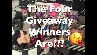 The Four Giveaway Winners Are???🎈 Rosa