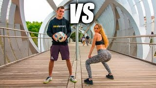 FÚTBOL VS TWERK - Retos de Fútbol Freestyle VS Twerk Freestyle