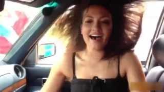 Girl REALLY loves BASS - dancing hair - great facial expression