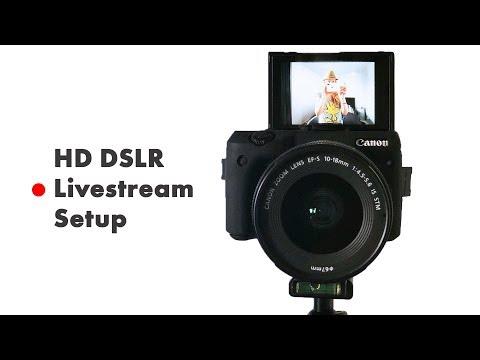 How to live stream with a DSLR Camera HD Livestream Setup Tutorial OBS & BeLive.TV