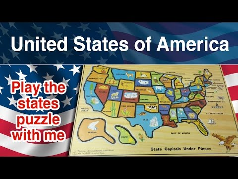 watch United States of America puzzle. 50 states of America. Come on kids play with me.