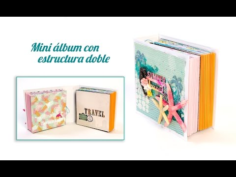 Mini álbum con doble estructura
