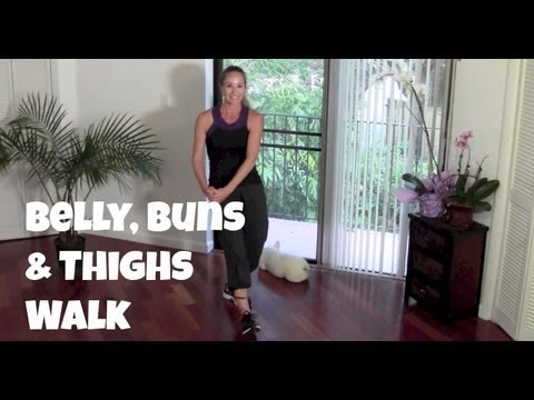 Belly Buns & Thighs Walk Full 40 Minute Indoor Walking Home Workout