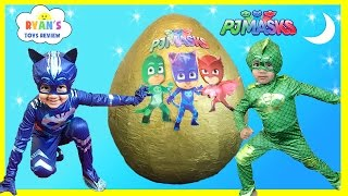 PJ MASKS GIANT EGG SURPRISE Toys for Kids Disney Toys Catboy Gekko Owlette PJ Masks IRL Superhero