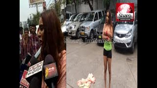 Telugu actress Sri Reddy Removes Clothes In Front Of Media    semi-nude protest, detained