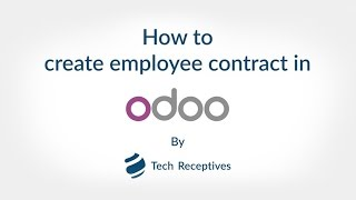 How to Manage HR Contract in Odoo