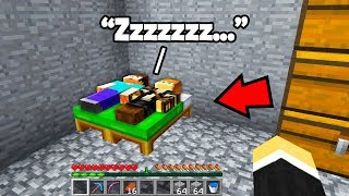 I found this kids Minecraft base.. didn't expect to find them SLEEPING!