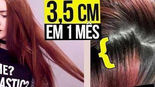 Como meu cabelo CRESCEU 3,5CM em 1 MÊS?