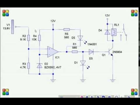 cargador automatico de baterias diseño