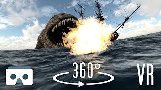 360 Virtual Reality Sea Monsters and Dragons: scary 360 3D VR video