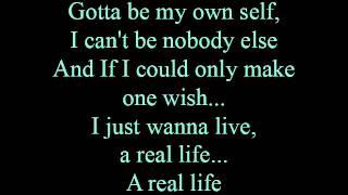 Real life - lyrics