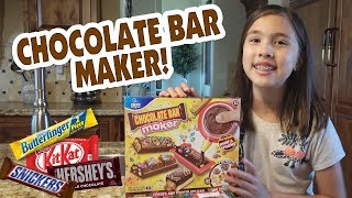 CHOCOLATE BAR MAKER!!! Chef Jillian Makes Candy!