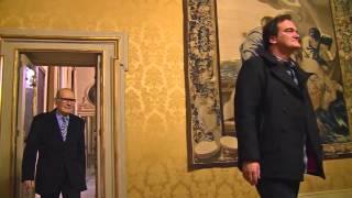 Ennio Morricone e Quentin Tarantino a Palazzo Chigi