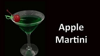 apple martini cocktail drink recipe