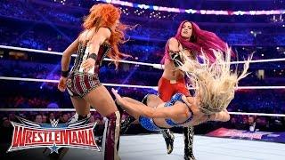 Becky Lynch vs. Sasha Banks vs. Charlotte - WWE Women's Title Match: WrestleMania 32 on WWE Network