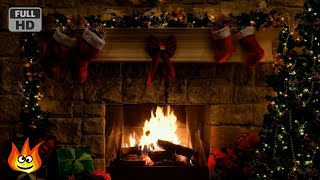 Christmas Fireplace Scene with Crackling Fire Sounds (6 hours)