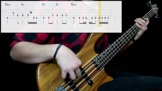Red Hot Chili Peppers - The Longest Wave (Bass Cover) (Play Along Tabs In Video)
