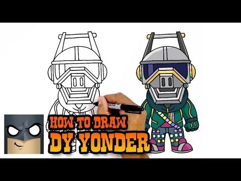 Xxx Mp4 How To Draw DJ Yonder Fortnite Awesome Step By Step Tutorial 3gp Sex