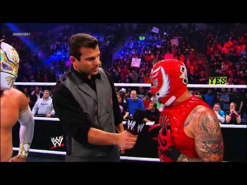 Rey Mysterio, Sin Cara & Randy Orton vs. The Prime Time Players & Alberto Del Rio: WWE Main Event