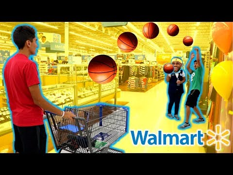 BASKETBALL WITH STRANGERS IN WALMART