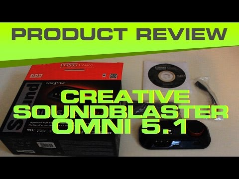 Creative Omni 5.1 Surround Blaster Unboxing Review - Good External Sound Card for Gamers
