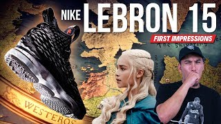 NEW HEAT ALERT!!! Nike LeBron 15 First Impressions!!!